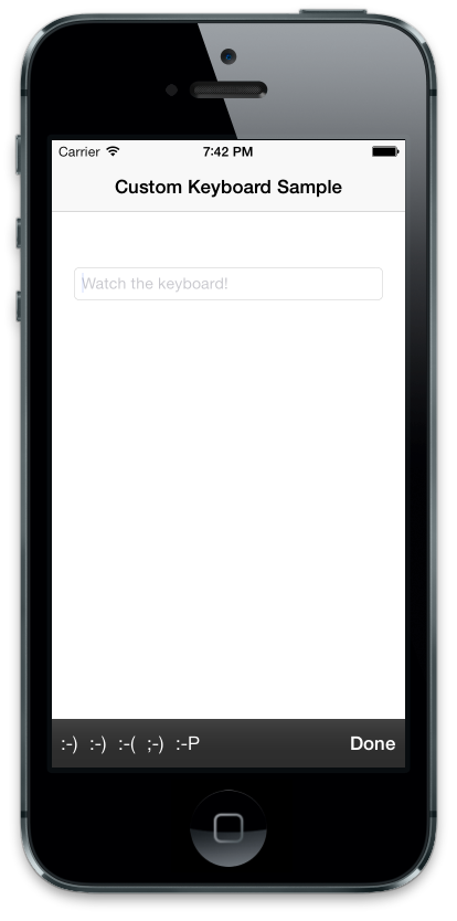 iOS-Custom-Keyboard-C#-Xamarin