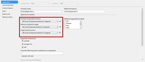 Android-Visual-Studio-Properties