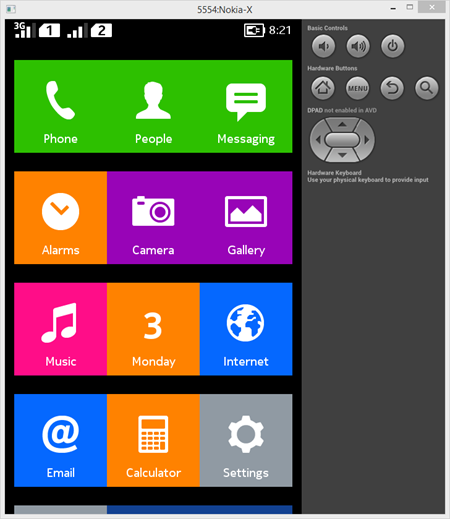 Nokia-X_running